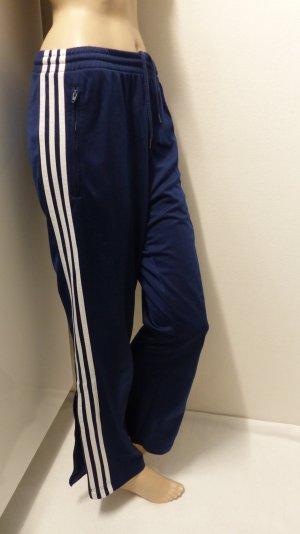 Adidas Originals Pantalone da ginnastica blu scuro-bianco Poliestere
