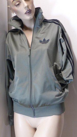 Adidas Giacca sport grigio-verde-nero Poliestere