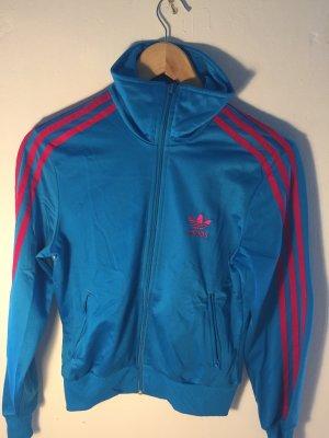 Adidas Sportjack neon blauw-magenta