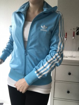 Adidas Originals Sports Jacket light blue polyester
