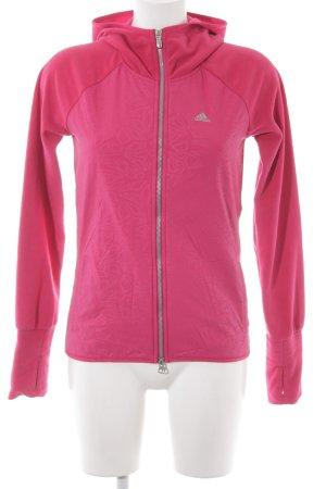 Adidas Chaqueta de forro polar magenta Patrón de estrellas estilo deportivo