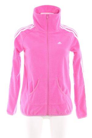 Adidas Chaqueta de forro polar rosa look casual