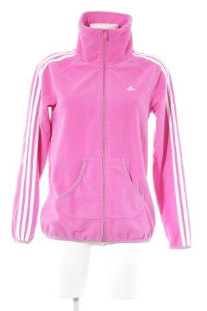 Adidas Fleecejacke pink sportlicher Stil