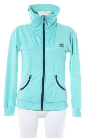 Adidas Giacca in pile turchese-blu scuro stile atletico