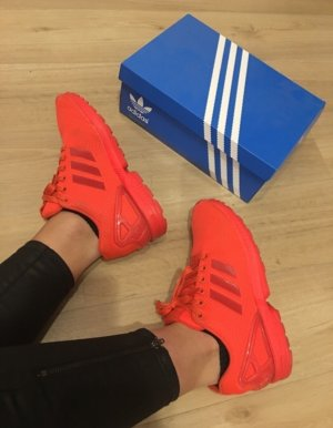 Adidas Flux neon rot/ orange 38 2/3