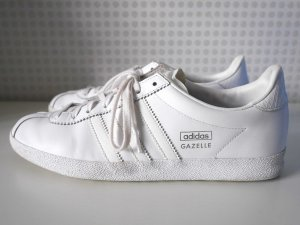 adidas: GAZELLE * 40 2/3 * OG W * S77872 * Weiß / Silber * TOP!