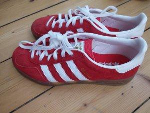 Adidas Gazelle rot weiß wie neu Gr. 36 2/3  bzw 37