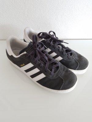 ADIDAS Gazelle Sneaker, Wildleder, dunkelgrau/weiß, Gr. 37,5
