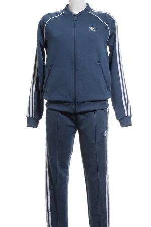 Adidas Completo sportivo blu neon-bianco stile atletico