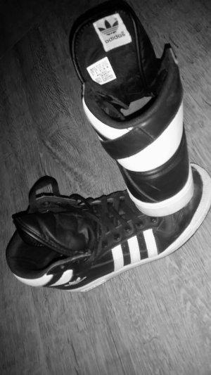 adidas high sneaker, schwarz/weiß