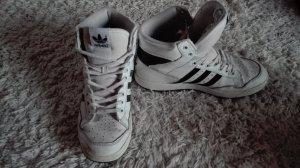 adidas high top black n white