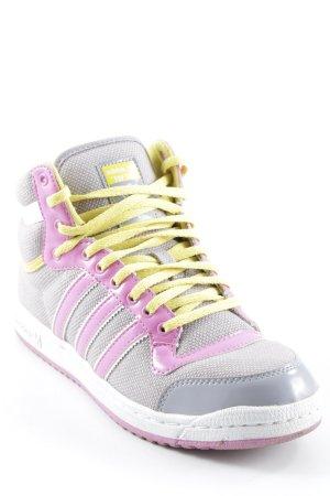 Adidas High Top Sneaker mehrfarbig Lack-Optik