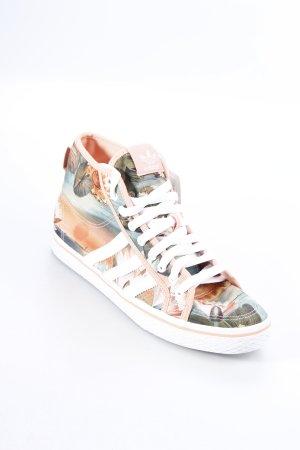 Adidas High Top Sneaker rosa-grüngrau florales Muster Casual-Look