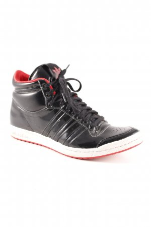 Adidas High Top Sneaker schwarz-rot Casual-Look