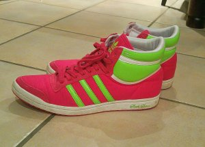 Adidas, Hightop Sneaker, gr.40 in pink, grün