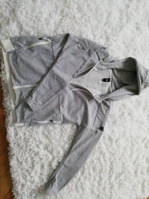 Adidas Giacca fitness grigio chiaro