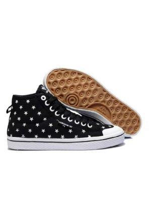 Adidas High top sneaker wit-zwart