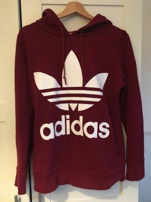 Adidas Originals Maglione con cappuccio rosso scuro