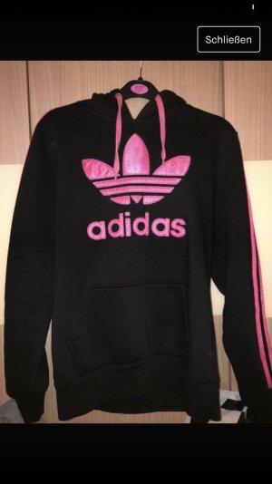 Adidas Pull à capuche noir-rose