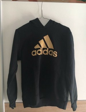 Adidas Hooded Sweater black-gold-colored
