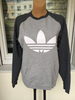 Adidas Hoodie gr M Oversized grau weiß
