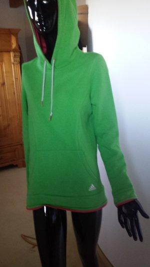 Adidas Originals Giacca con cappuccio verde neon-rosso chiaro