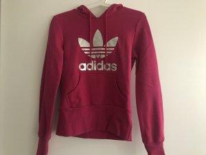 Adidas Hoodie Pullover Pulli 34 Pink/Silber