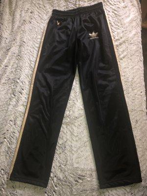 Adidas Hose Jogginghose Schwarz Gold Größe 38/40 L