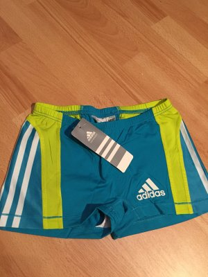 Adidas Short moulant jaune-bleu