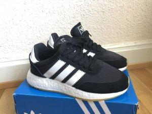 Adidas Basket à lacet noir-blanc
