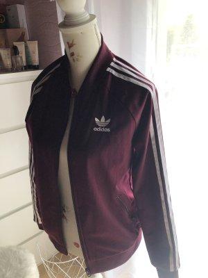 Adidas Originals Giacca sport bordeaux-bianco