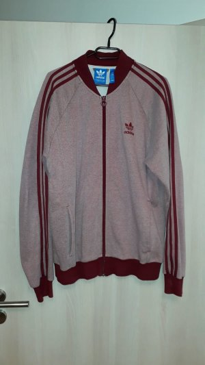 Adidas Giacca fitness marrone-rosso