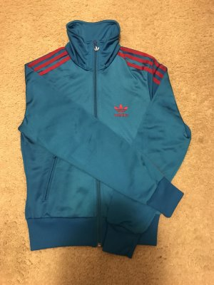 Adidas Sportjack neon blauw-neonrood