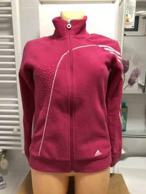 Adidas Fleece Jackets pink-white