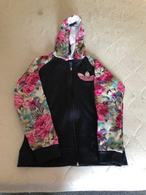 Adidas Chaqueta con capucha azul oscuro-rosa