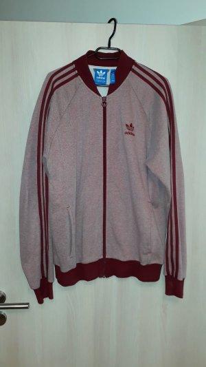 Adidas Veste sweat brun rouge