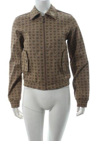 Adidas Jacke beige-khaki Monogram-Muster sportlicher Stil