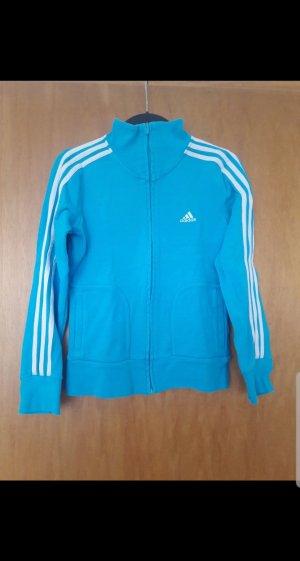 Adidas Chaqueta de tela de sudadera azul claro
