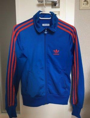 Adidas Chaqueta de tela de sudadera rojo-azul