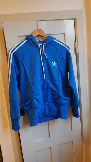Adidas Giacca fitness bianco-blu