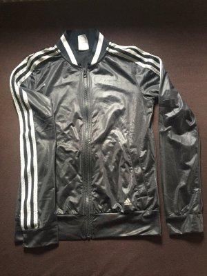 Adidas Veste de sport noir-gris clair polyester