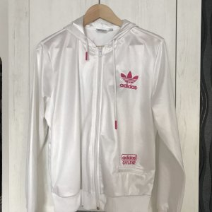 Adidas Veste longue blanc-rose