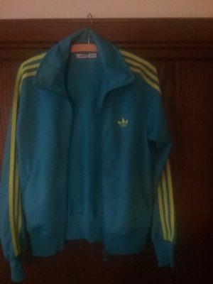 Adidas Chaqueta de tela de sudadera azul aciano