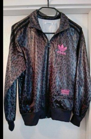 adidas jacke grau pink leoprint