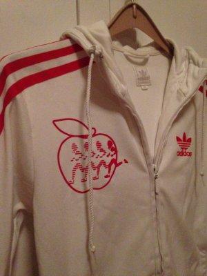 Adidas Jacke, Größe 34, weiß-Rot - super Zustand