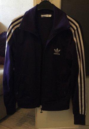 Adidas Jacke Größe 40 Lila/Silber