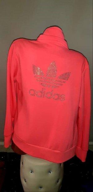 Adidas Jacke in gr 40 Neon Rosa Glitzer Super Zustand