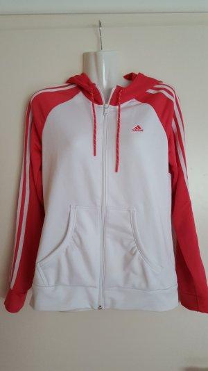 Adidas Jacke in Pink/ weiss . Größe 38