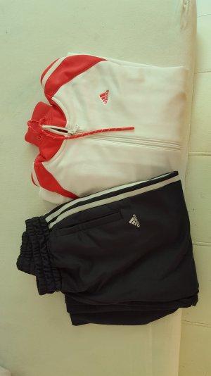 Adidas Jacke in Pink/ weiss . Größe 38 und Hose.