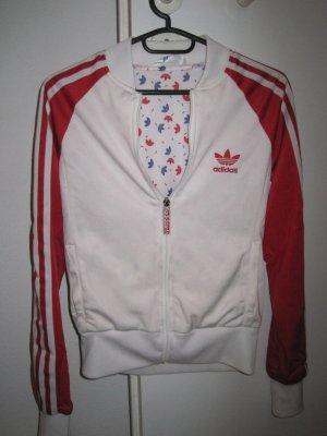 Adidas Jacke in weiß/rot